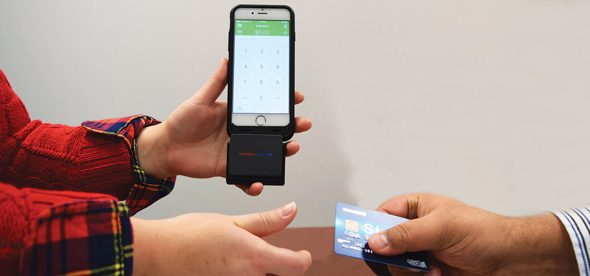 Card handoff with mobile reader